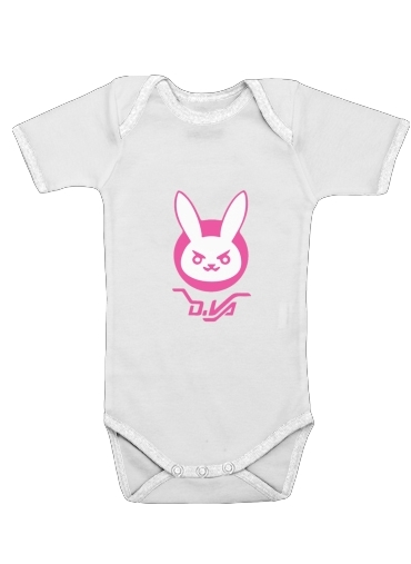 body bébé Overwatch D.Va Bunny Tribute Lapin Rose