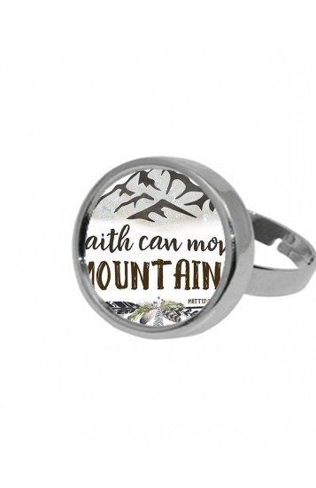Bague Catholique - Faith can move montains Matt 17v20 Bible
