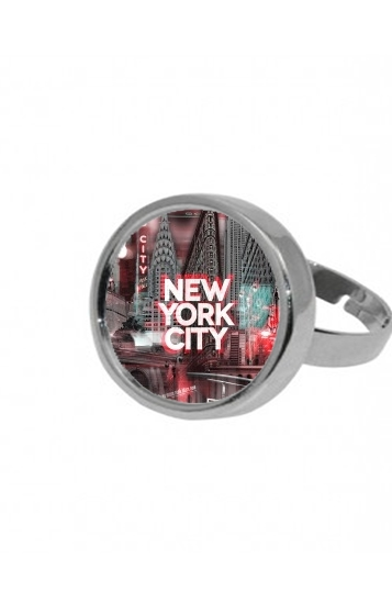 Bague New York City II [red]