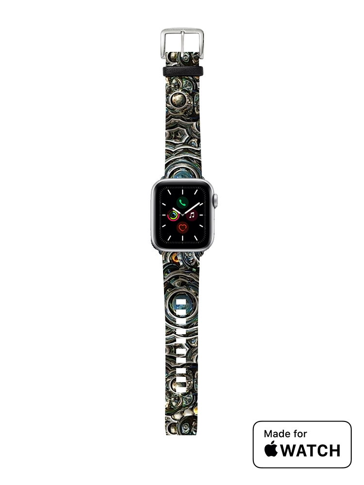 apple watch Silver glitter bubble cells