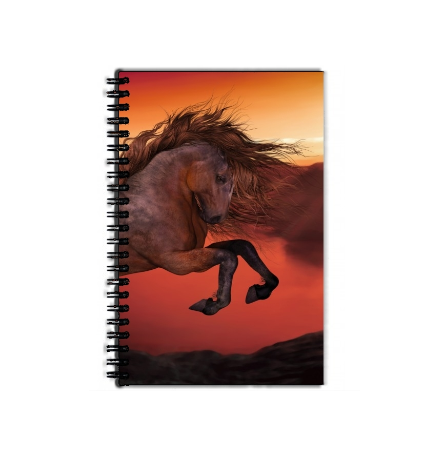 cahier de texte A Horse In The Sunset