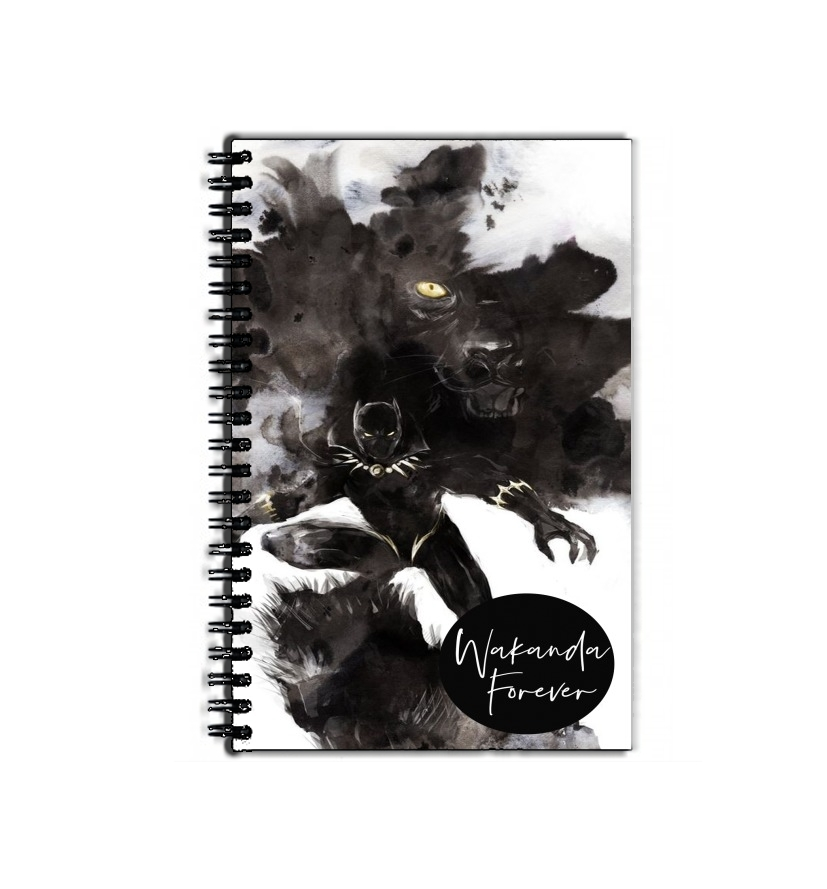 cahier de texte Black Panther Abstract Art WaKanda Forever