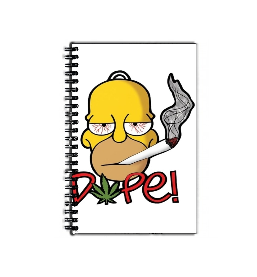 cahier de texte Homer Dope Weed Smoking Cannabis