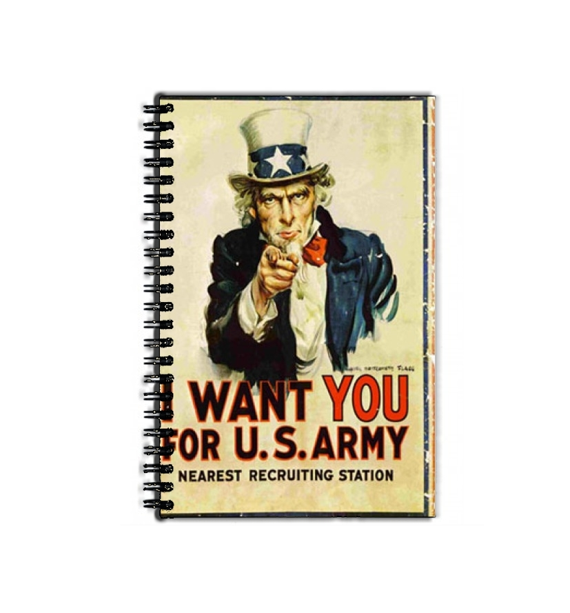 cahier de texte I Want You For US Army