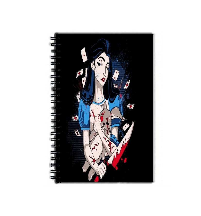 cahier de texte Madness in Wonderland