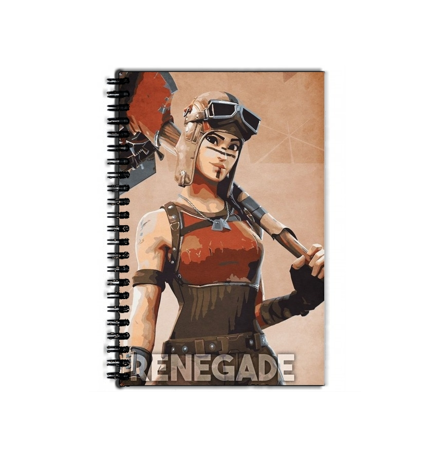 cahier de texte Renegade Skin Fortnite Art