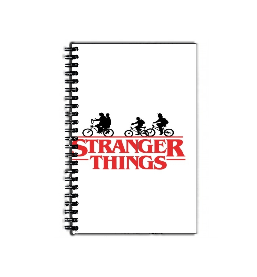 cahier de texte Stranger Things by bike