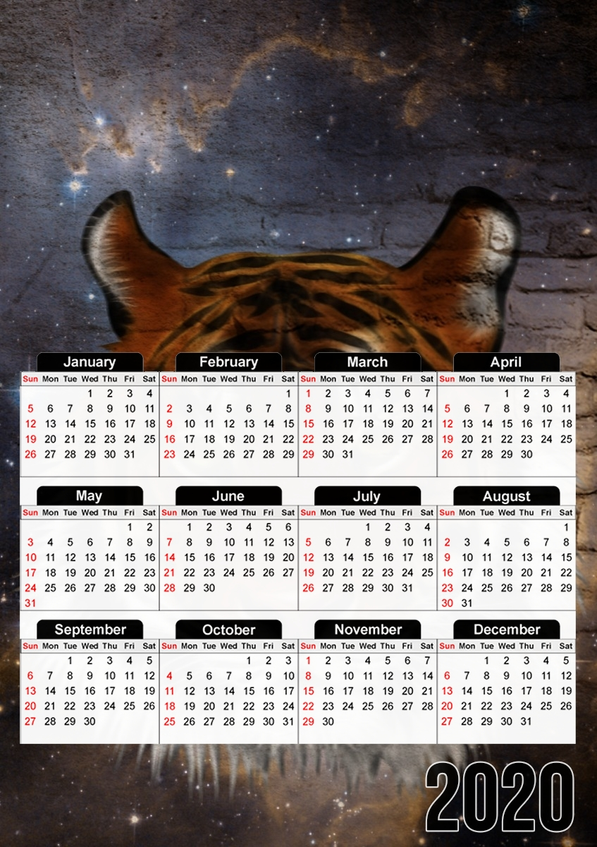 Calendrier Abstract Tiger