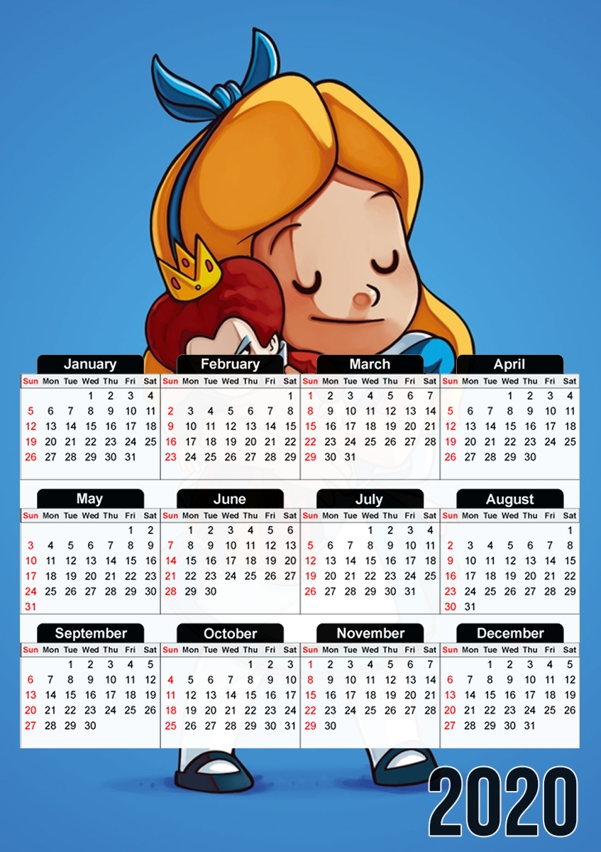 calendrier Alice Free Hugs 2020 / 2021