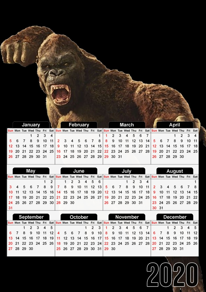 Calendrier Angry Gorilla
