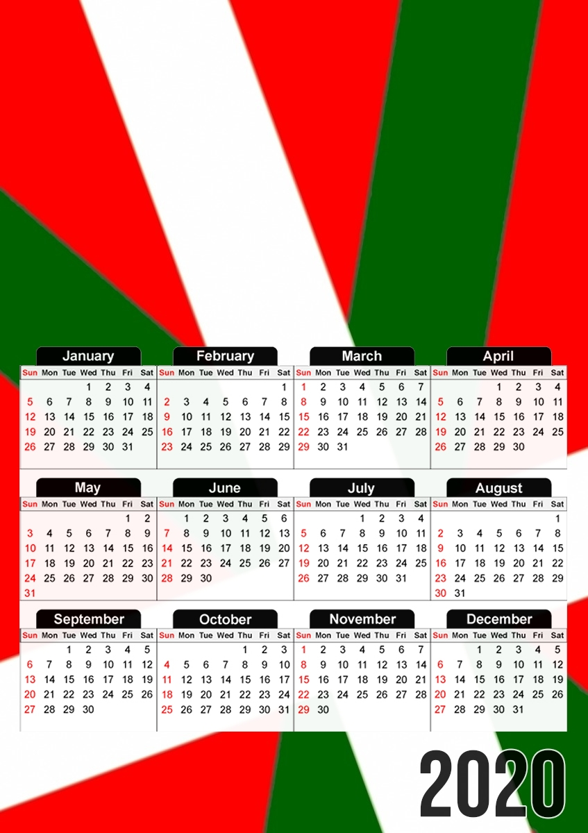 calendrier Basque 2020 / 2021