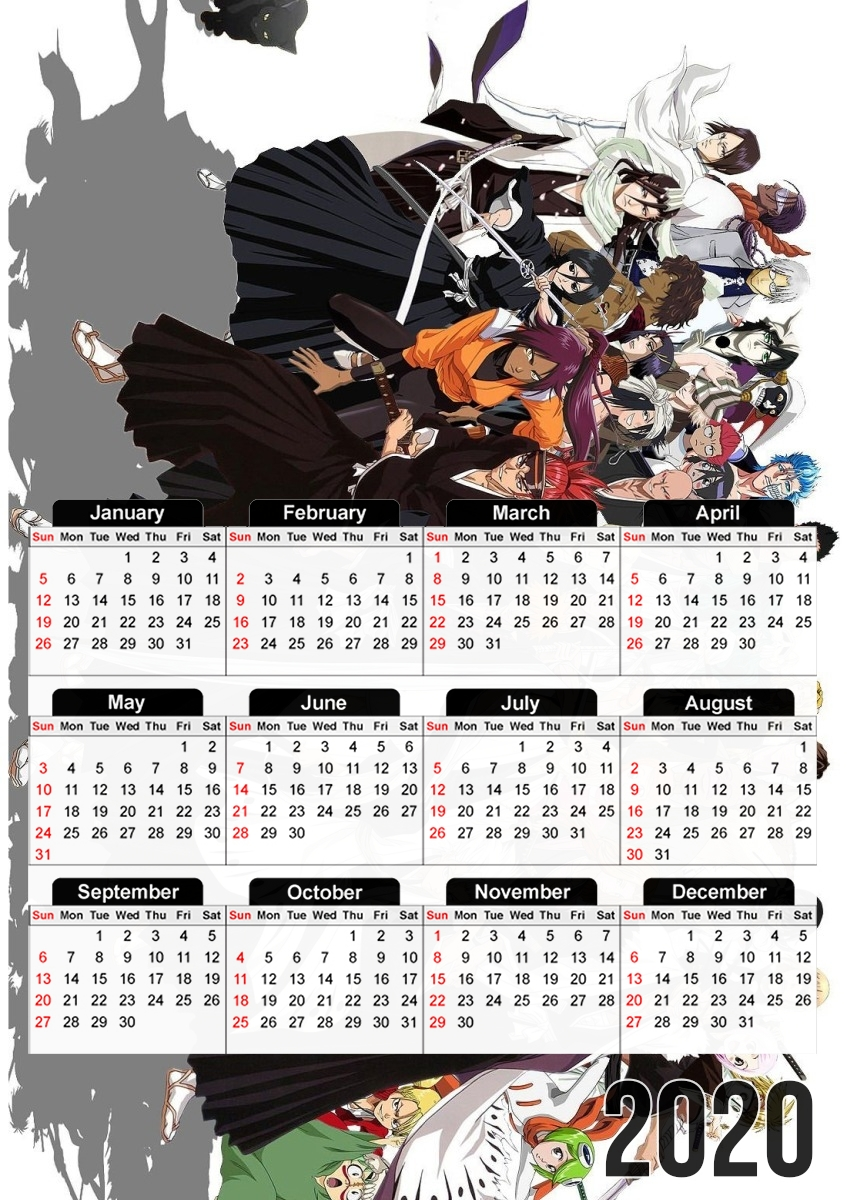 Calendrier Bleach All characters 30x43cm format A3