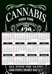 Calendrier Cannabis 30x43cm format A3