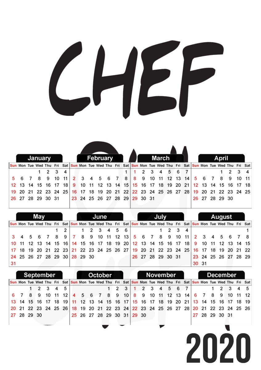 Calendrier Humour 2022 Calendrier Chef Oui Chef humour 30x43cm format A3