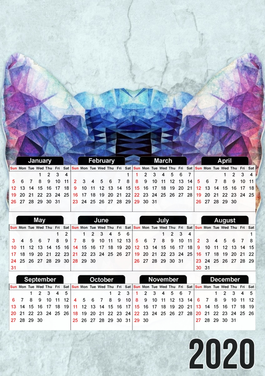 calendrier Chat Fractal 2020 / 2021