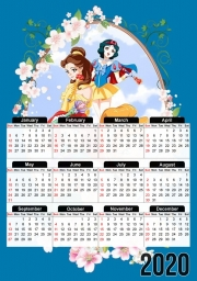 Calendrier Disney Princess Feat Sailor Moon 30x43cm format A3