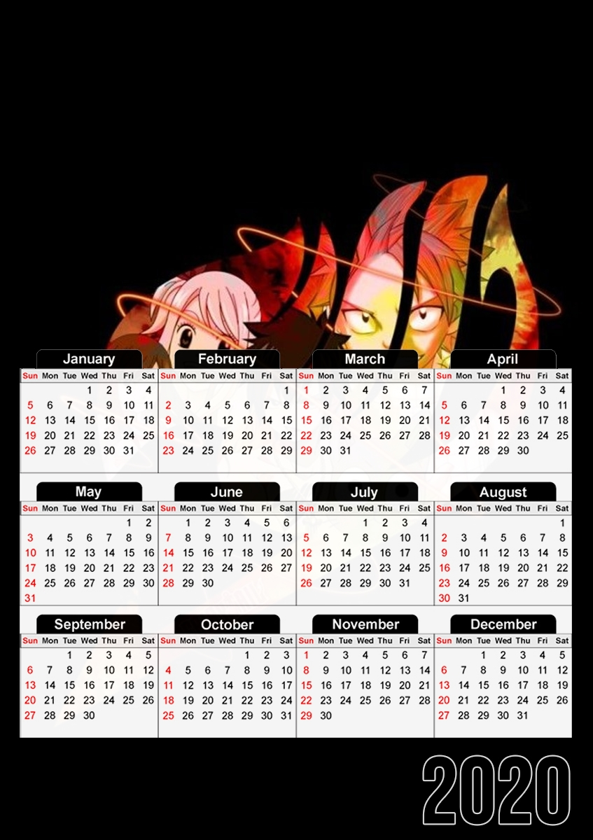 Calendrier Fairy Tail Symbol 30x43cm format A3