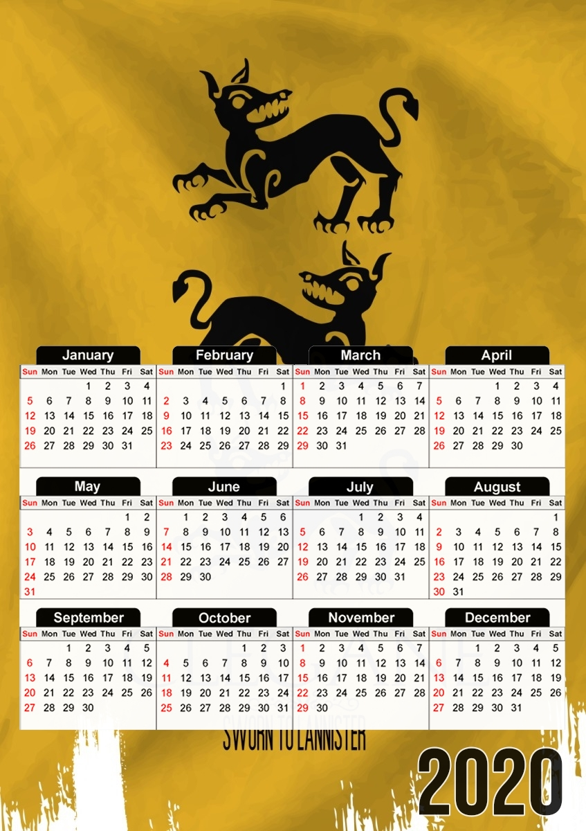 calendrier Flag House Clegane 2020 / 2021