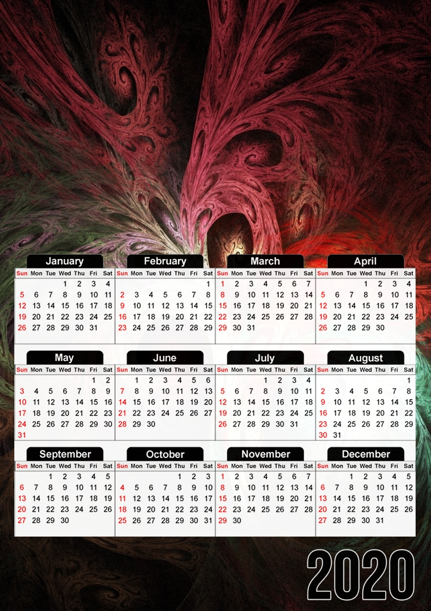 calendrier Fractal Tree 2020 / 2021