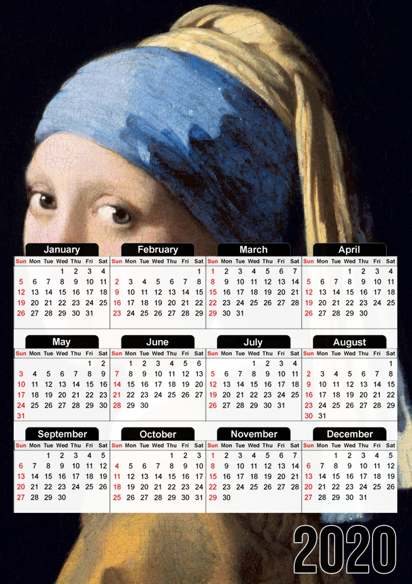 calendrier Girl with a Pearl Earring 2020 / 2021