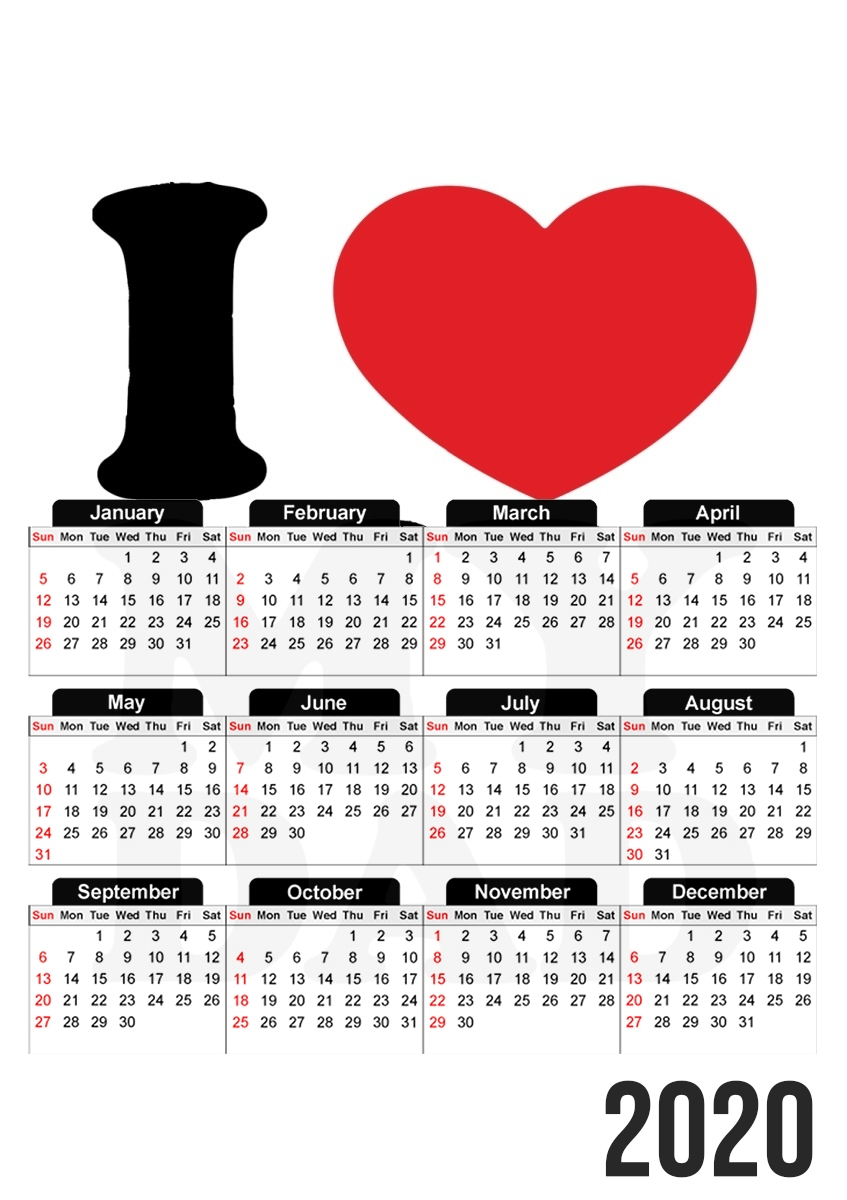 calendrier I love my DAD 2019 / 2020