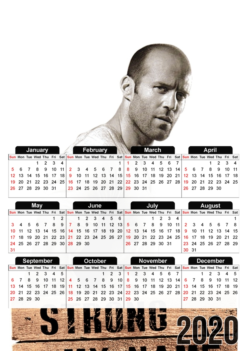 calendrier Jason statham Strong is my name 2020 / 2021