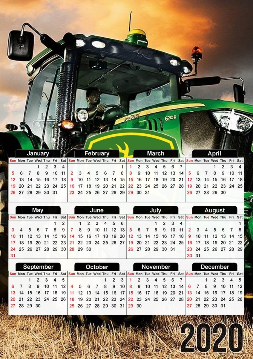 Tracteur Pulling 2021 Calendrier Calendrier John Deer Tracteur vert 30x43cm format A3