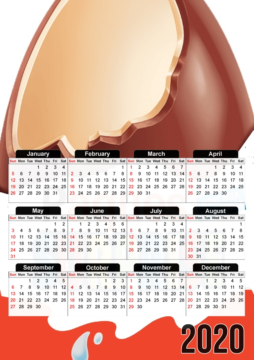 calendrier Joyeuses Paques Inspired by Kinder Surprise 2020 / 2021