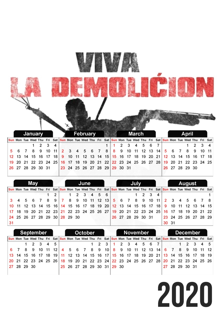calendrier Just Cause Viva La Demolition 2020 / 2021