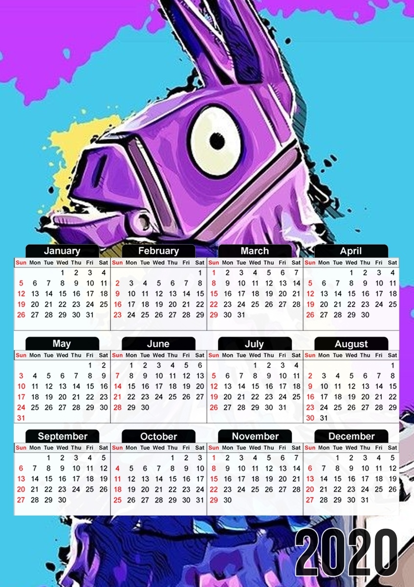 calendrier Lama Fortnite 2019 / 2020