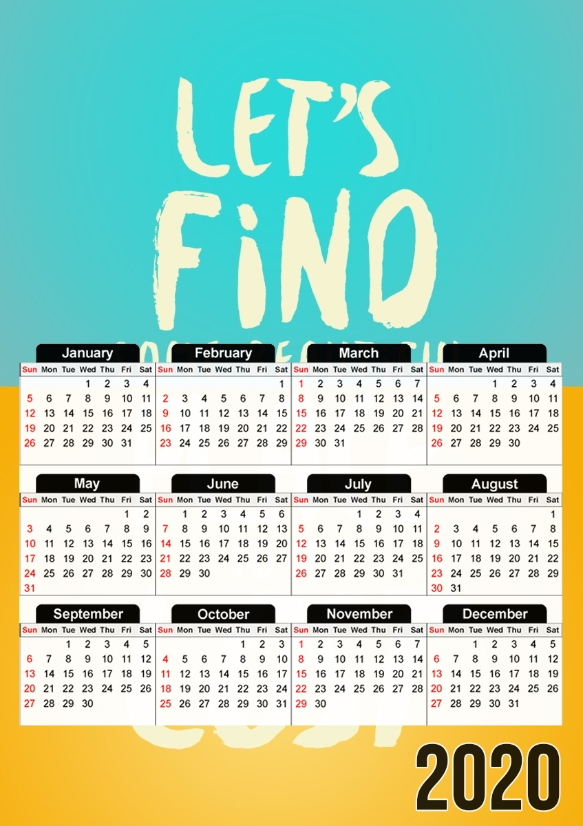 calendrier Let's find some beautiful place 2020 / 2021