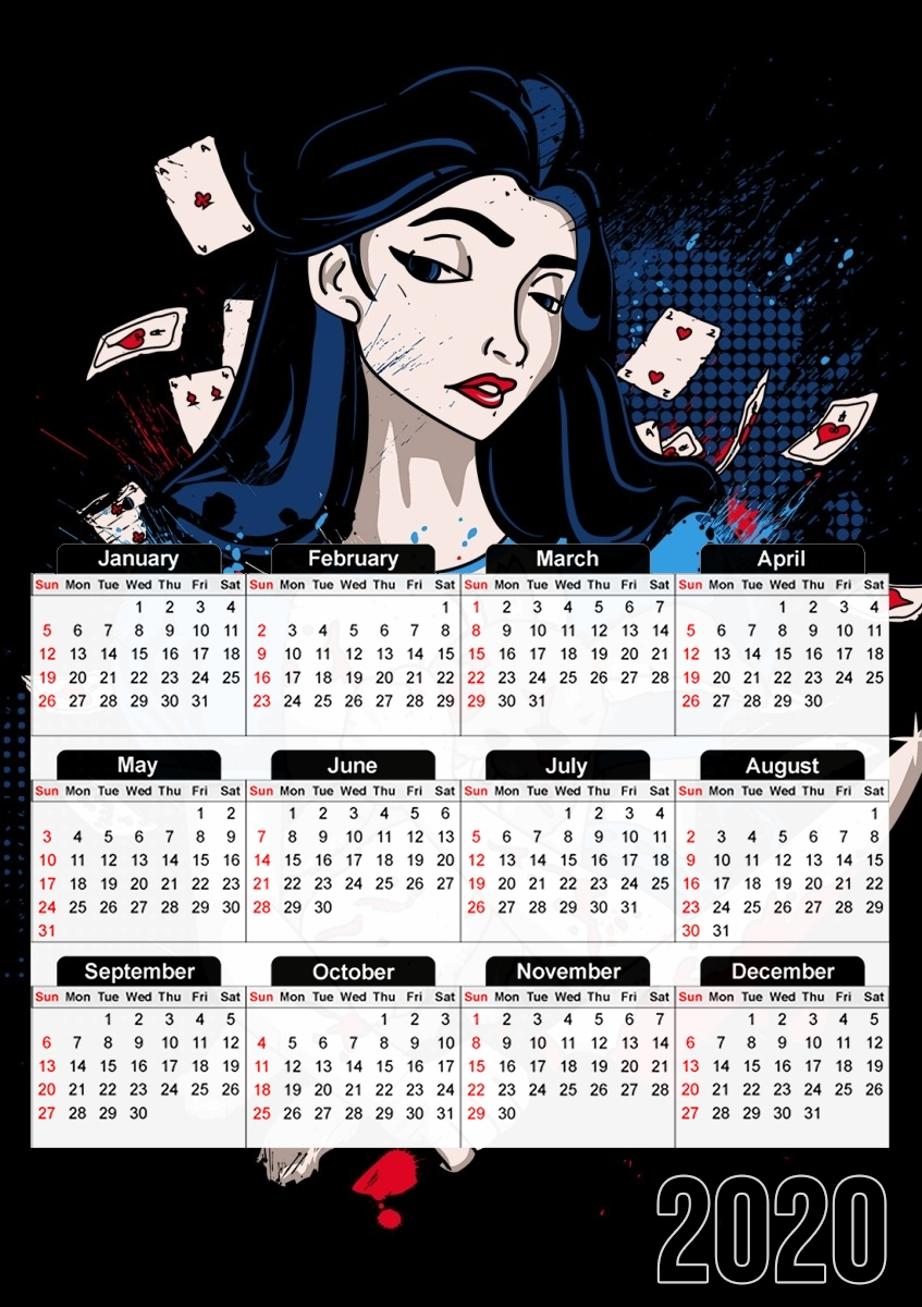 calendrier Madness in Wonderland 2019 / 2020