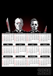calendrier Maniac in black jason voorhees 2020 / 2021