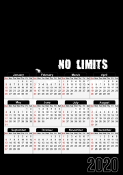Calendrier MMA No Limits No Rules No Fear 30x43cm format A3