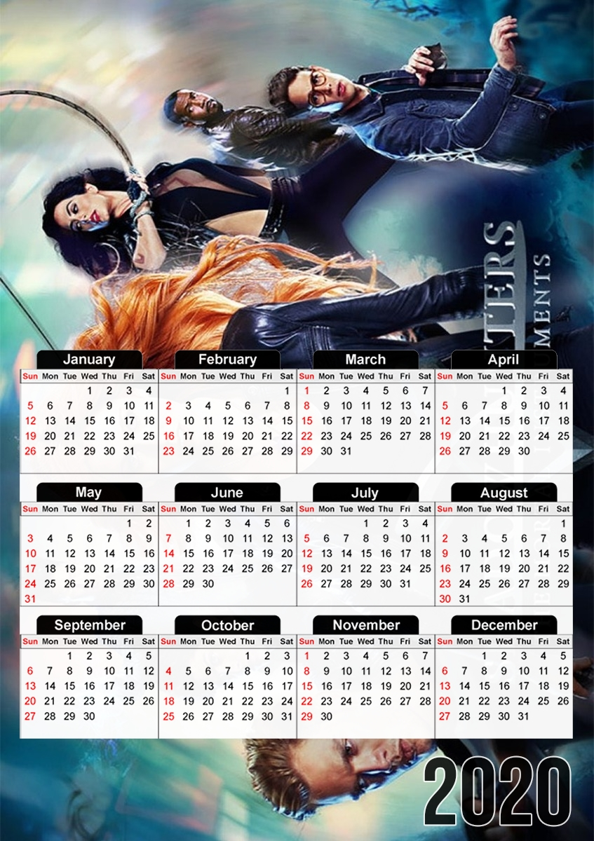 calendrier Mortal instruments Shadow hunters 2019 / 2020