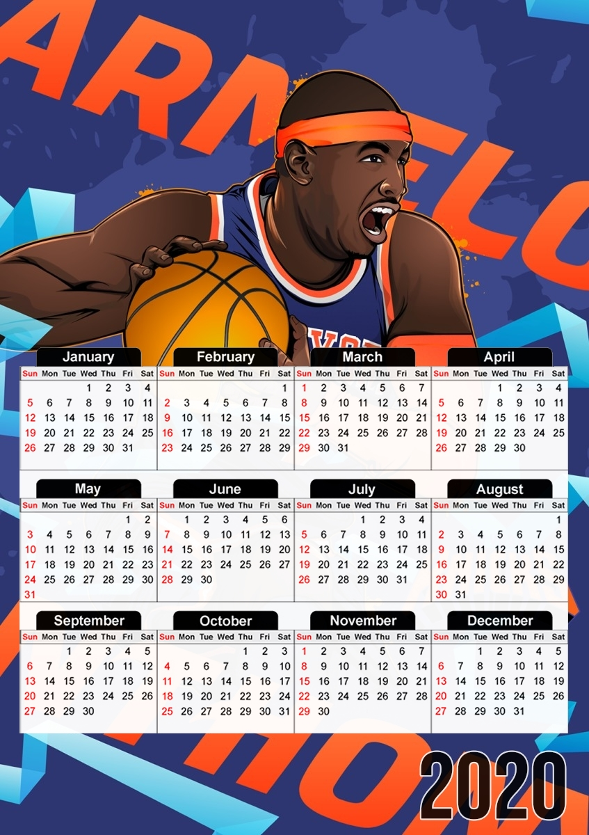 Calendrier 2021 Nba Calendrier NBA Stars: Carmelo Anthony 30x43cm format A3
