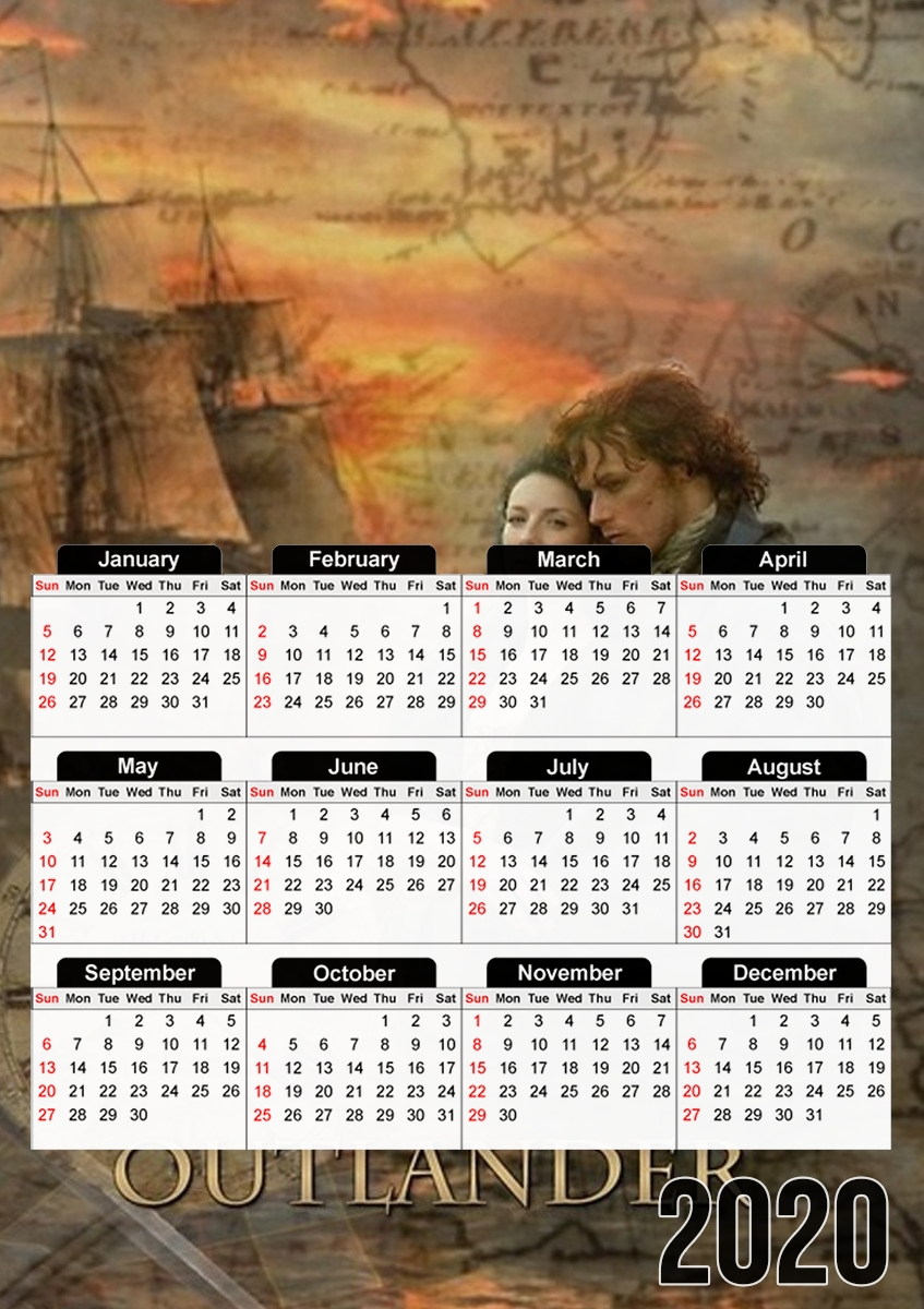 calendrier Outlander Collage 2019 / 2020