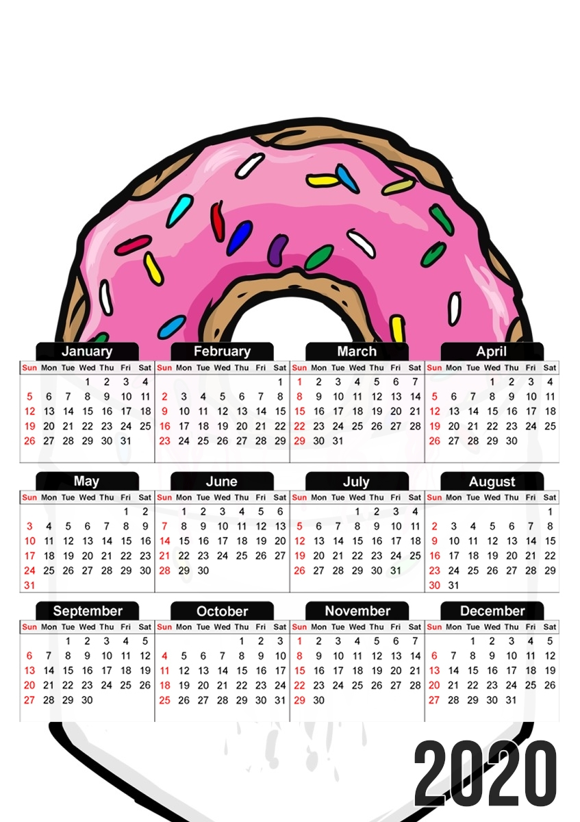 calendrier Pocket Collection: Donut Springfield 2020 / 2021