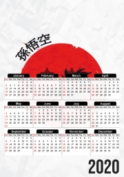 calendrier Red Sun Young Monkey 2020 / 2021