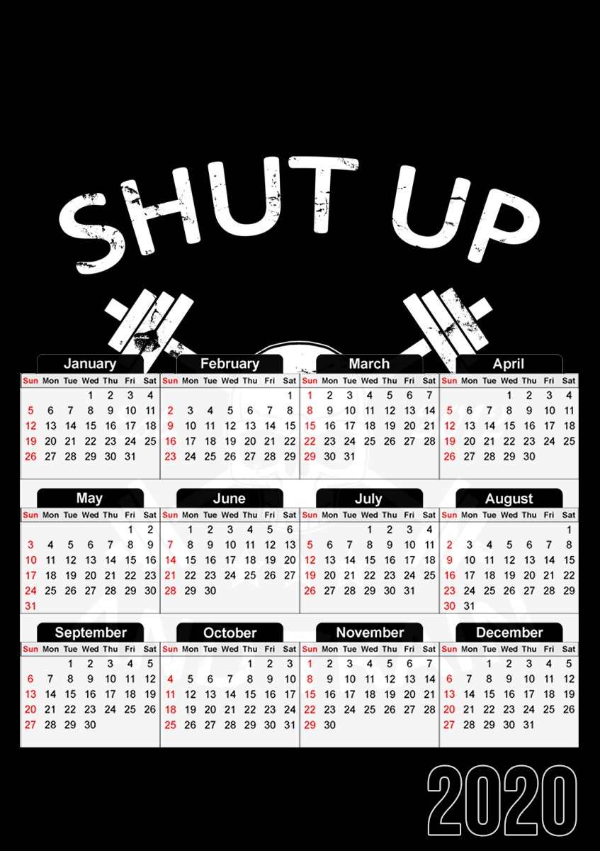 calendrier Shut Up and Train 2020 / 2021
