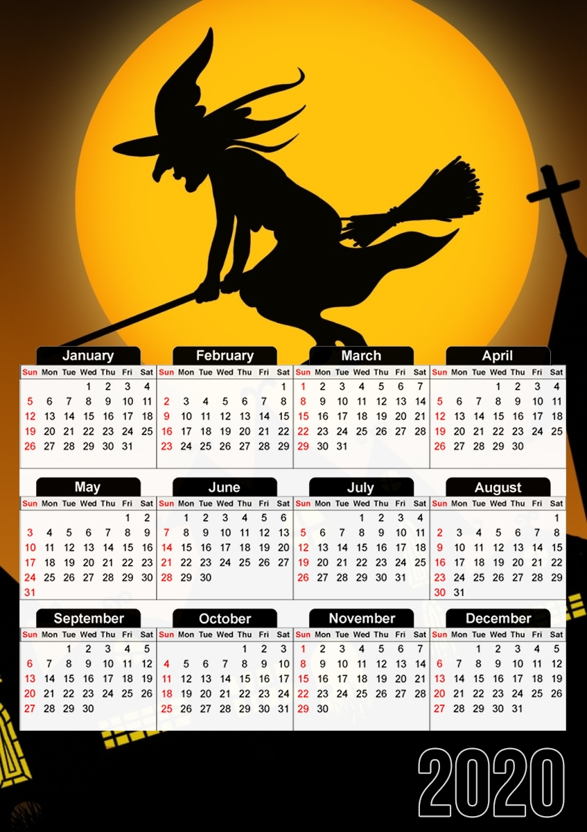 Calendrier Spooky Halloween 2 30x43cm format A3