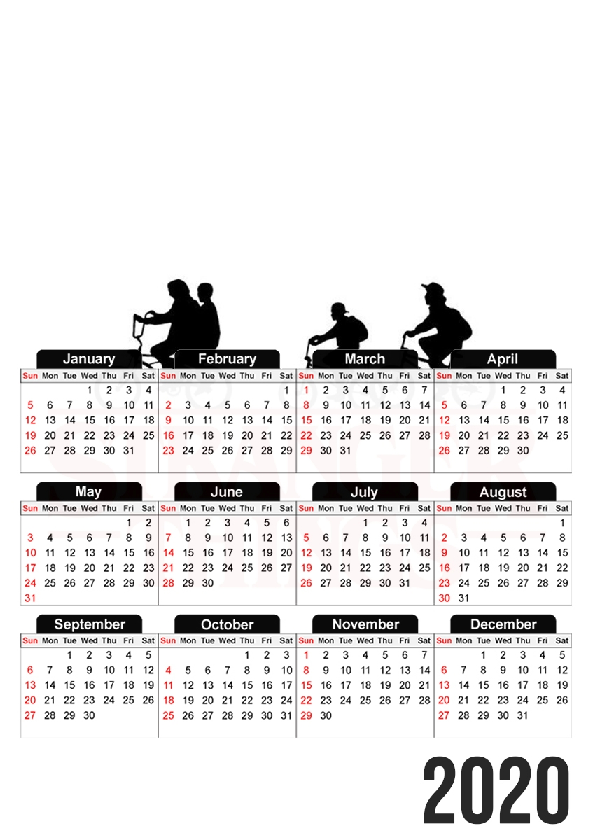 calendrier Stranger Things by bike 2019 / 2020