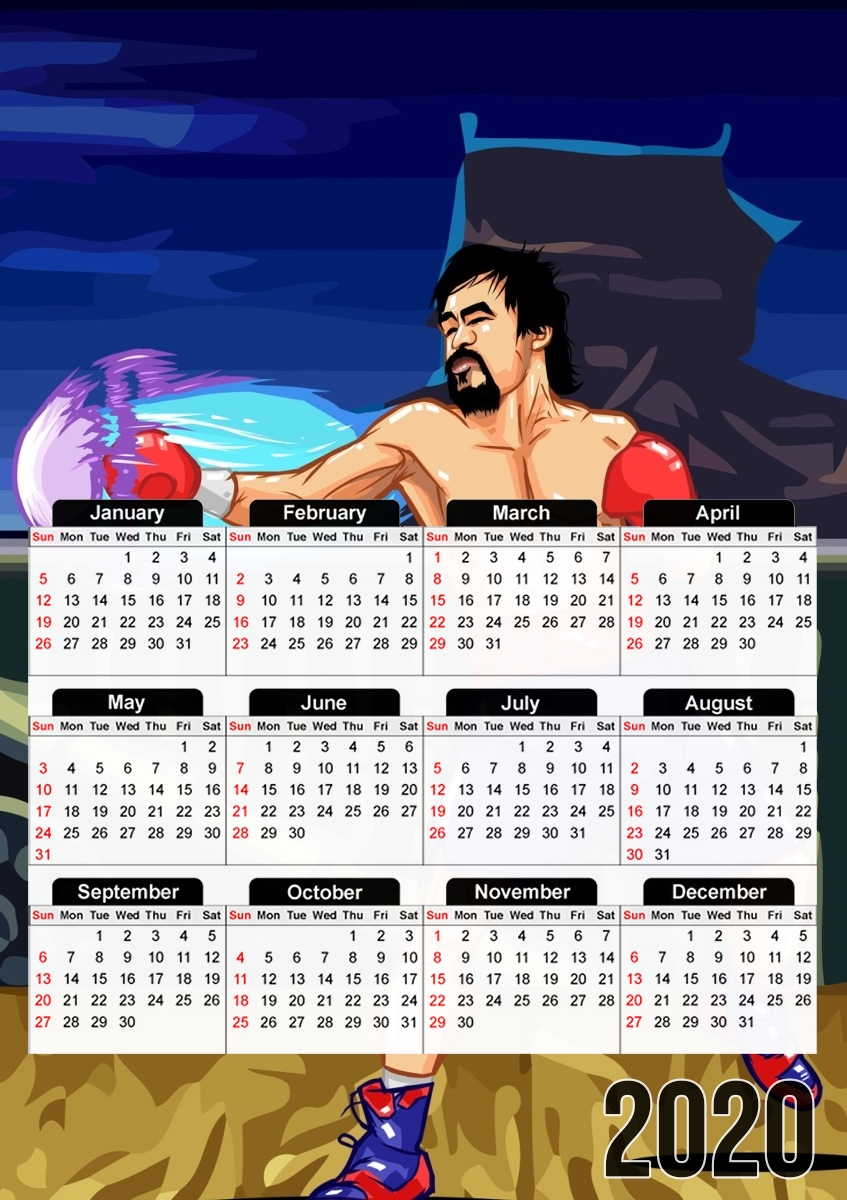 calendrier Street Pacman Fighter Pacquiao 2019 / 2020