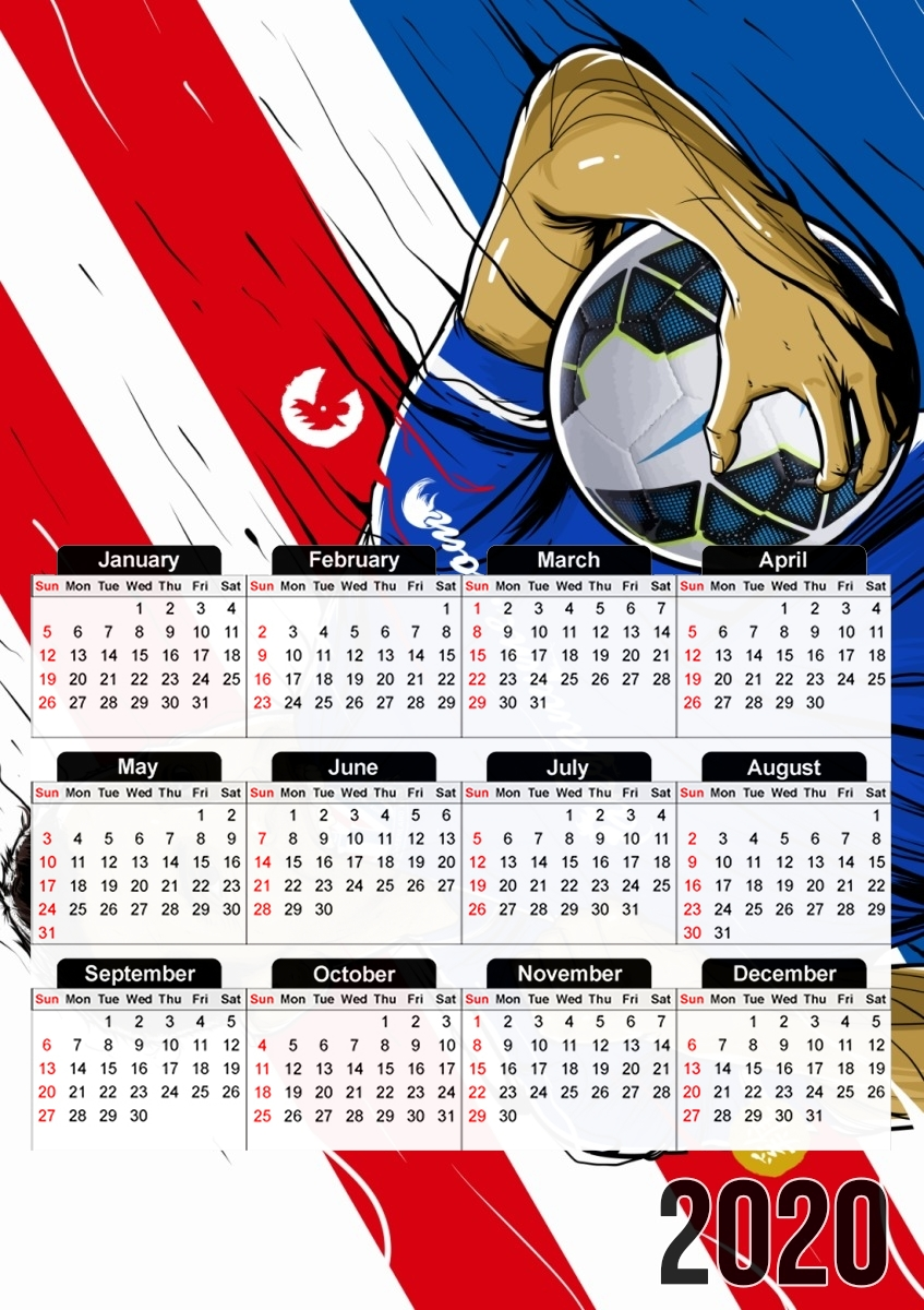 calendrier Super Tevez Chinese 2020 / 2021