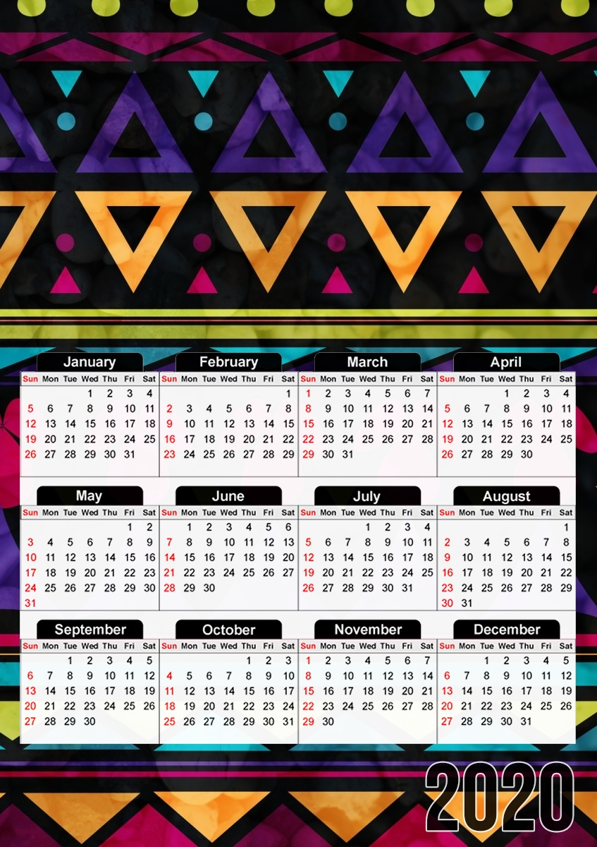 calendrier Sweet Triangle Pattern 2019 / 2020