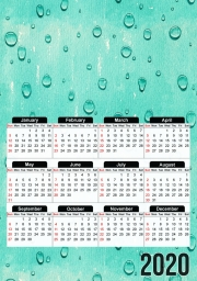 calendrier Water Drops Pattern 2020 / 2021