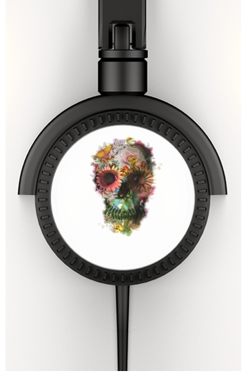 casque audio Skull Flowers Gardening