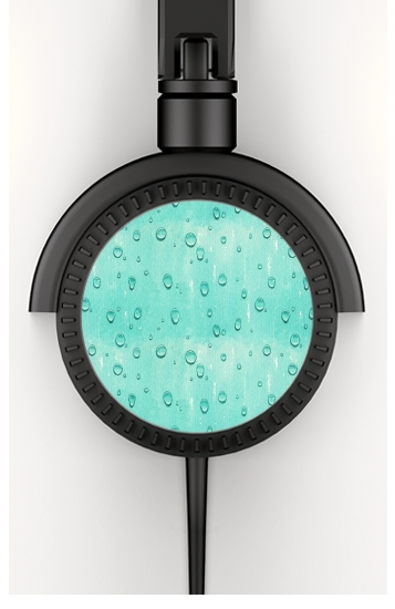 Casque Water Drops Pattern