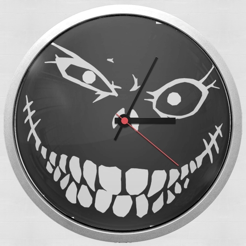 horloge crazy monster grin murale personnalis e. Black Bedroom Furniture Sets. Home Design Ideas