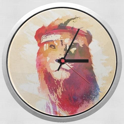 horloge gym lion murale personnalis e. Black Bedroom Furniture Sets. Home Design Ideas